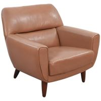 Iconic Tan Colored Leather Lounge Chair by Illum Wikkelsoe ...