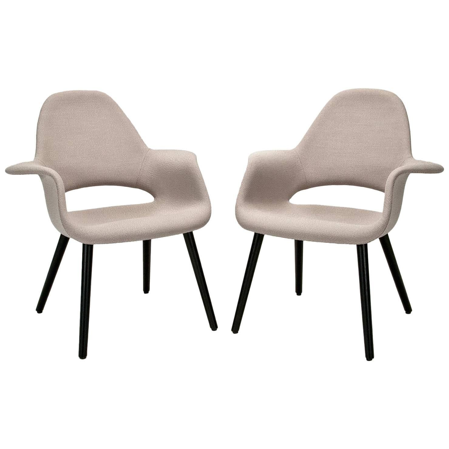 Vitra Eames Armchair Pair Of Organic Armchairs By Charles Eames And Eero Saarinen For Vitra
