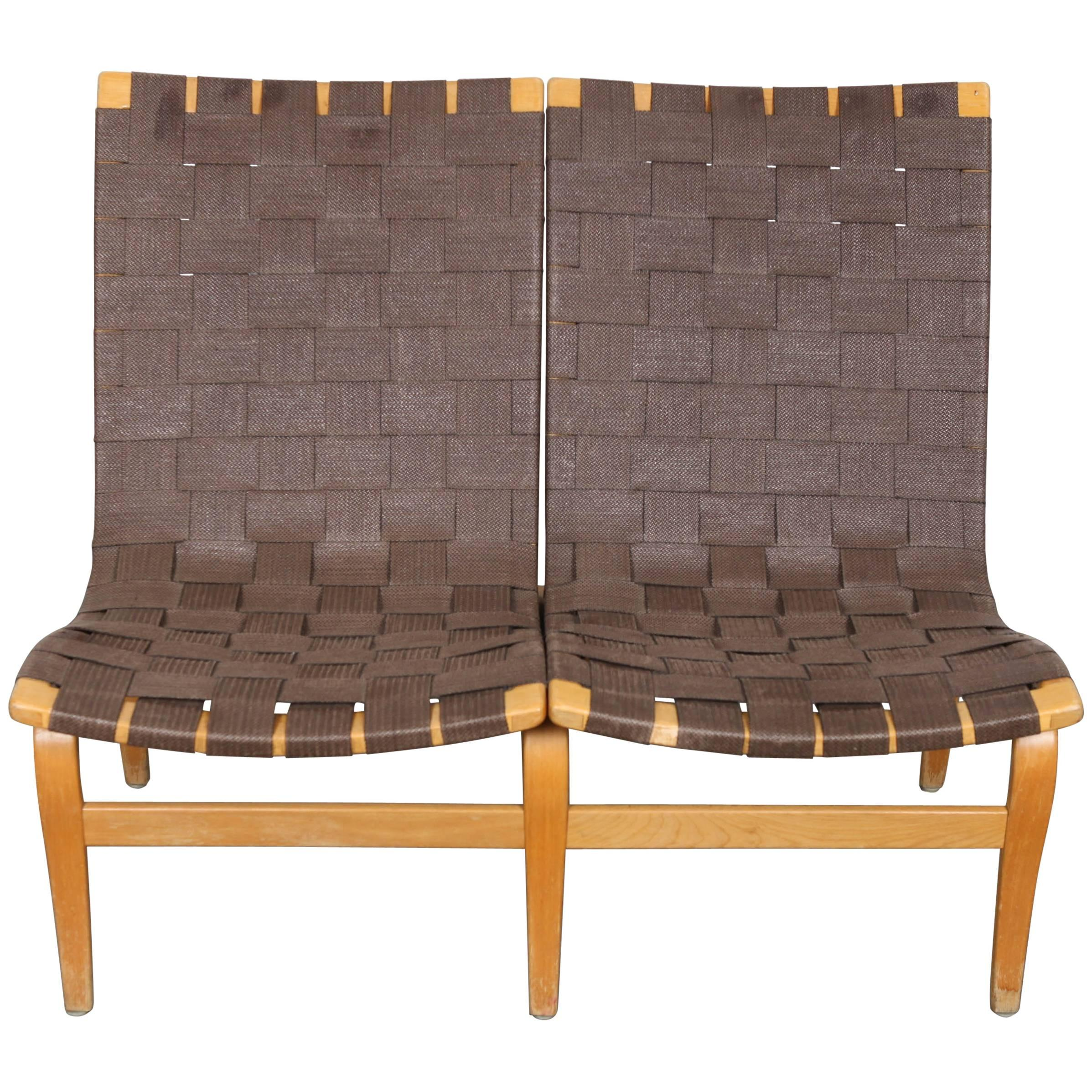 Swedish Mid Century Furniture Swedish Mid Century Modern Two Seat Settee Webbed Sofa By Bruno Mathsson