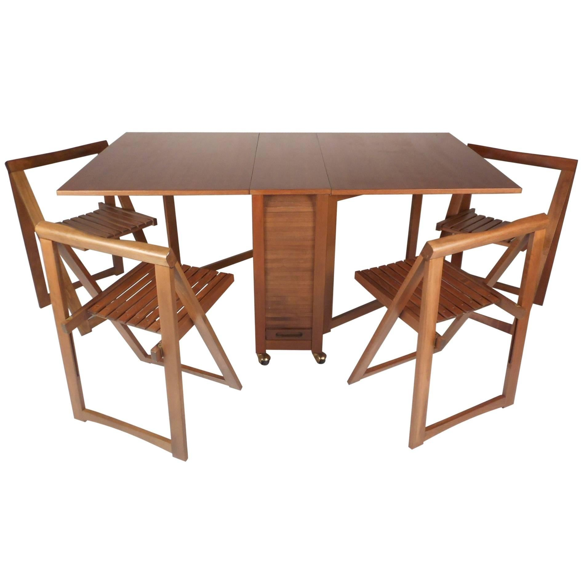 Modern Table And Chairs Mid Century Modern Drop Leaf Dining Table With Chairs
