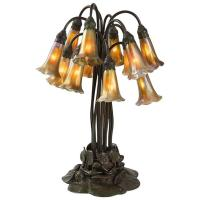 """Tiffany Studios """"Twelve-Light Lily"""" Table Lamp For Sale at ..."""