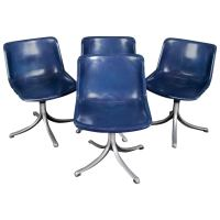 Set of Four, Mid-Century Modern Knoll School Bucket Chairs ...