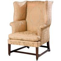 George III Period Wing Chair with Serpentine Wings For