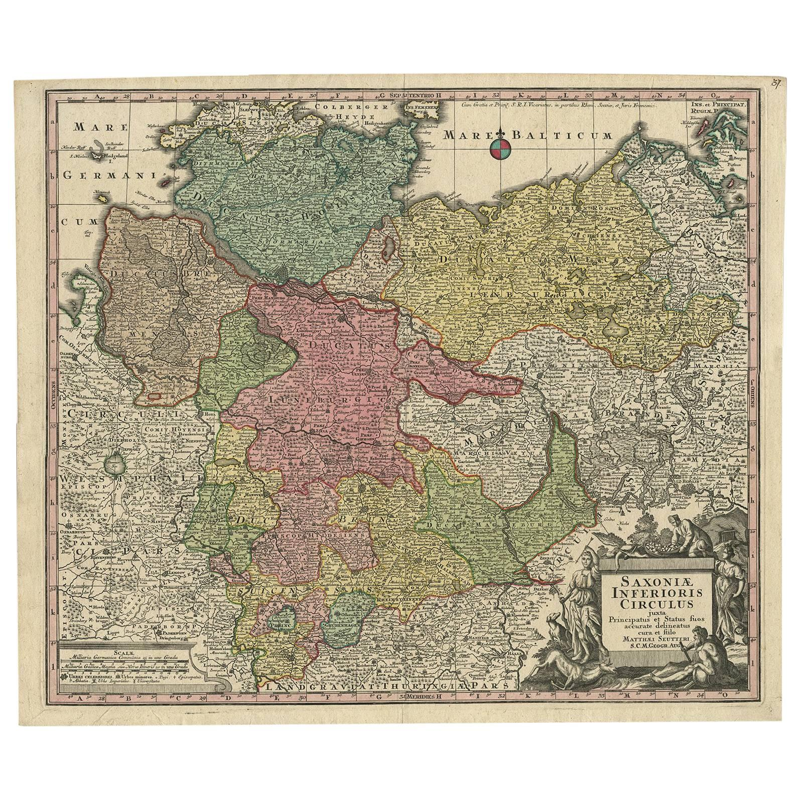 Maps Oldenburg Antique Map Of Denmark And Oldenburg Germany By A Ortelius Circa 1598