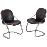 Midcentury Tubular Chrome Chairs For Sale at 1stdibs