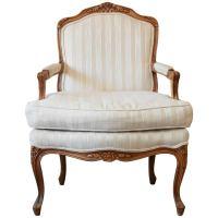 Baker Furniture Louis XVI Carved Ivory Upholstered ...