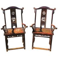 Chinese Late 18th Century Painted Elm Chairs at 1stdibs