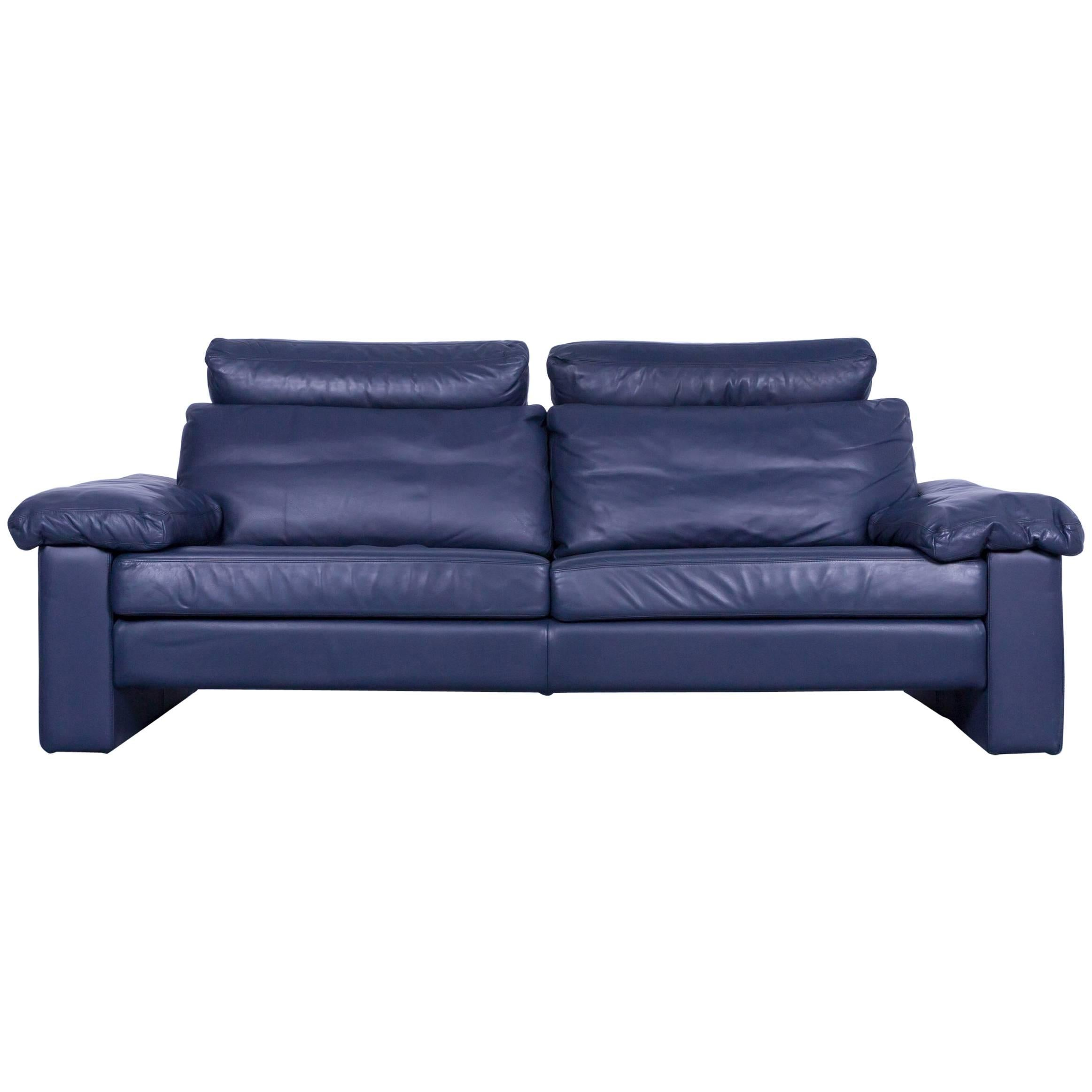 Designer Couch Cor Conseta Designer Sofa Leather Blue Three Seat Couch Modern