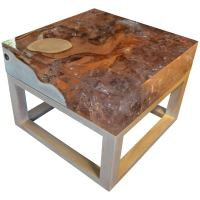 Andrianna Shamaris Cracked Resin Side Table or Coffee ...