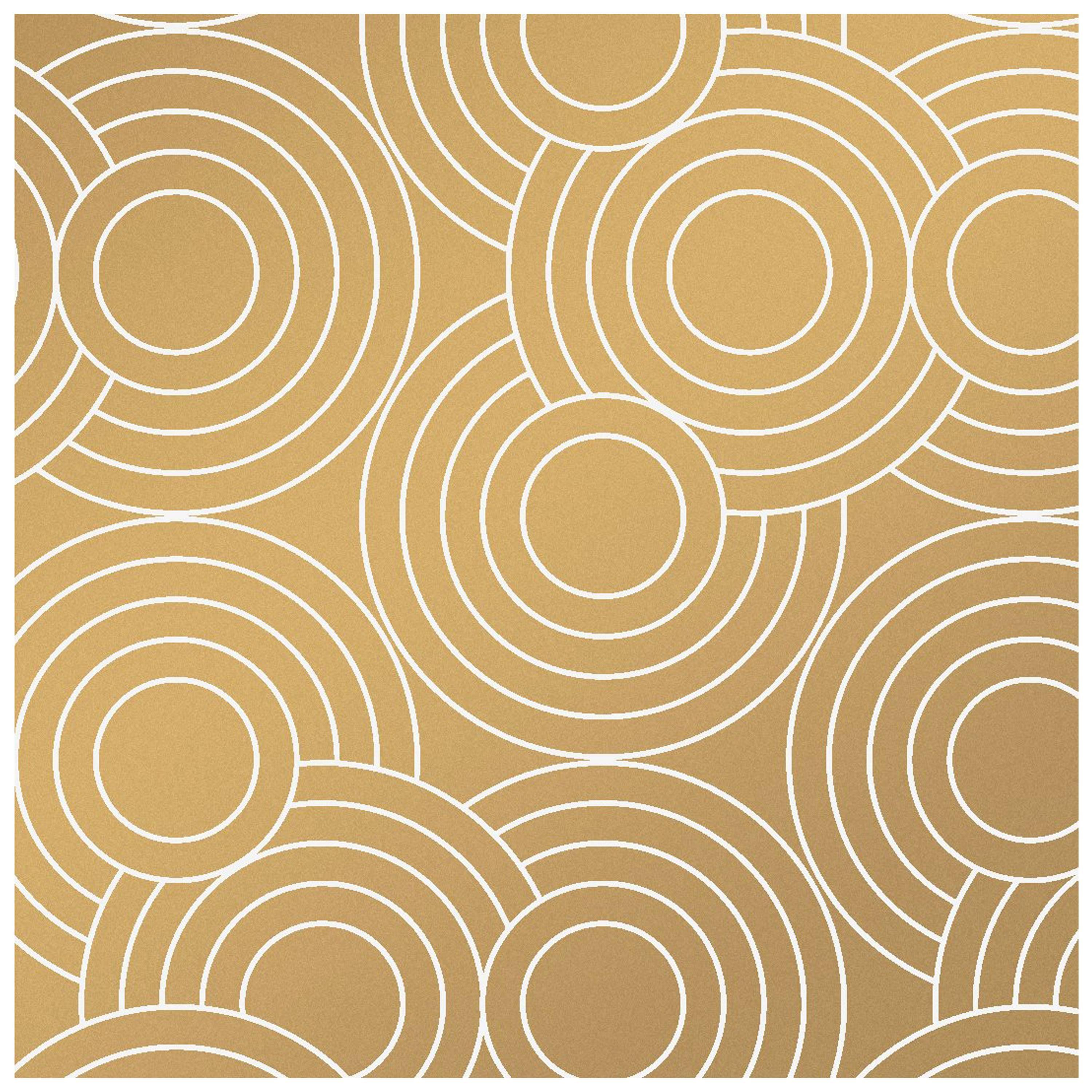 Metallic Gold Wallpaper Crop Circles Designer Wallpaper In Color Sphinx White On Metallic Gold
