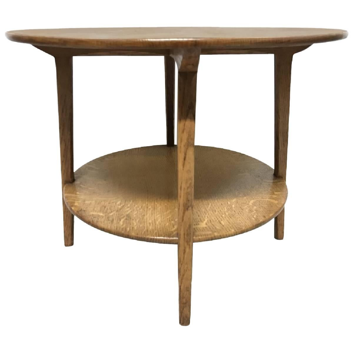 Coffee And Side Tables Edward Barnsley Arts Crafts Oak Two Tier Circular Coffee Or Side Table