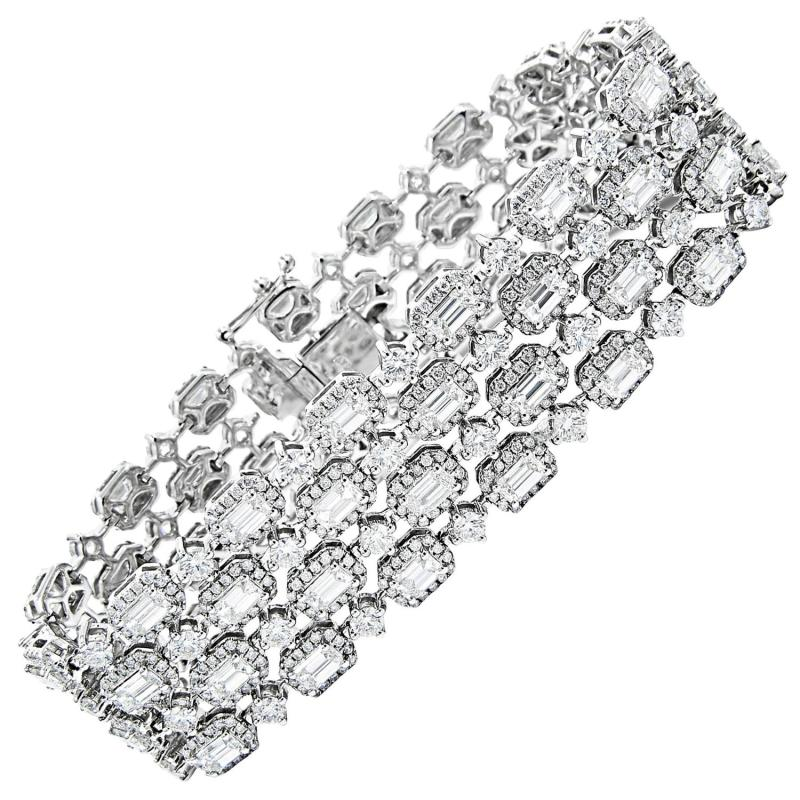 Large Of Diamond Tennis Bracelet