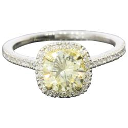 Perfect Light Yellow Canary Diamond G Platinum Halo Ring At Yellow Diamond Engagement Rings Sale Women Yellow Diamond Engagement Rings