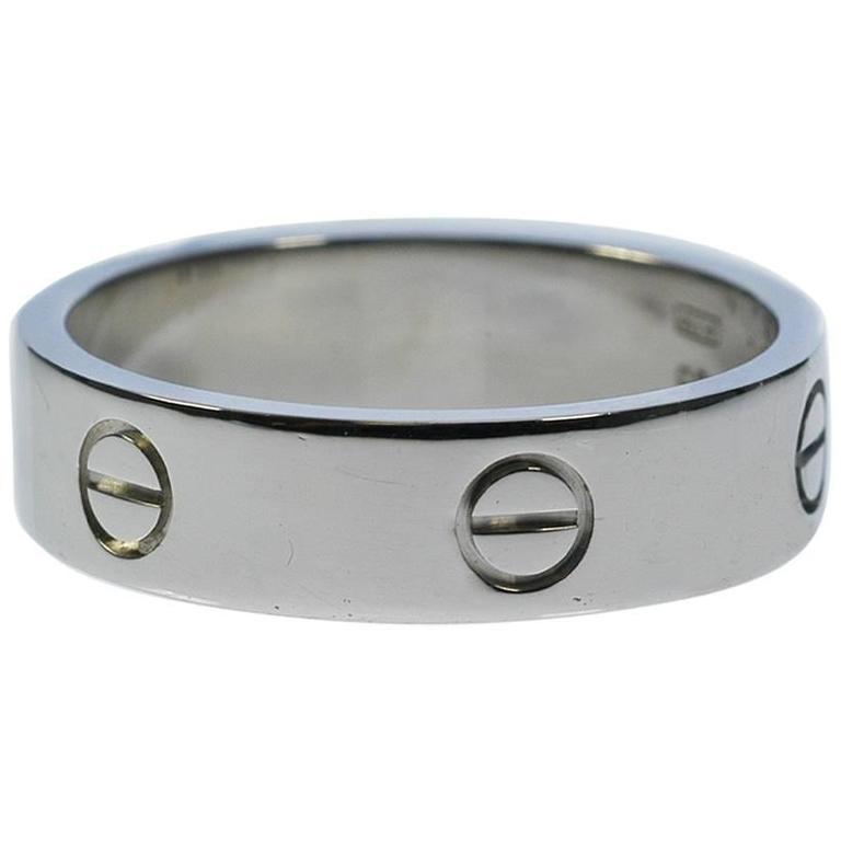 Cartier Men's Gold Love Wedding Band Ring at 1stdibs