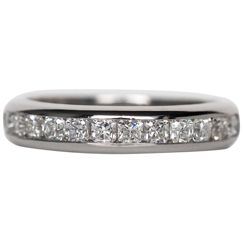 wedding rings tiffany wedding bands Tiffany amp Co Lucida Cut 1 00 Carats Diamonds Wedding Band Ring
