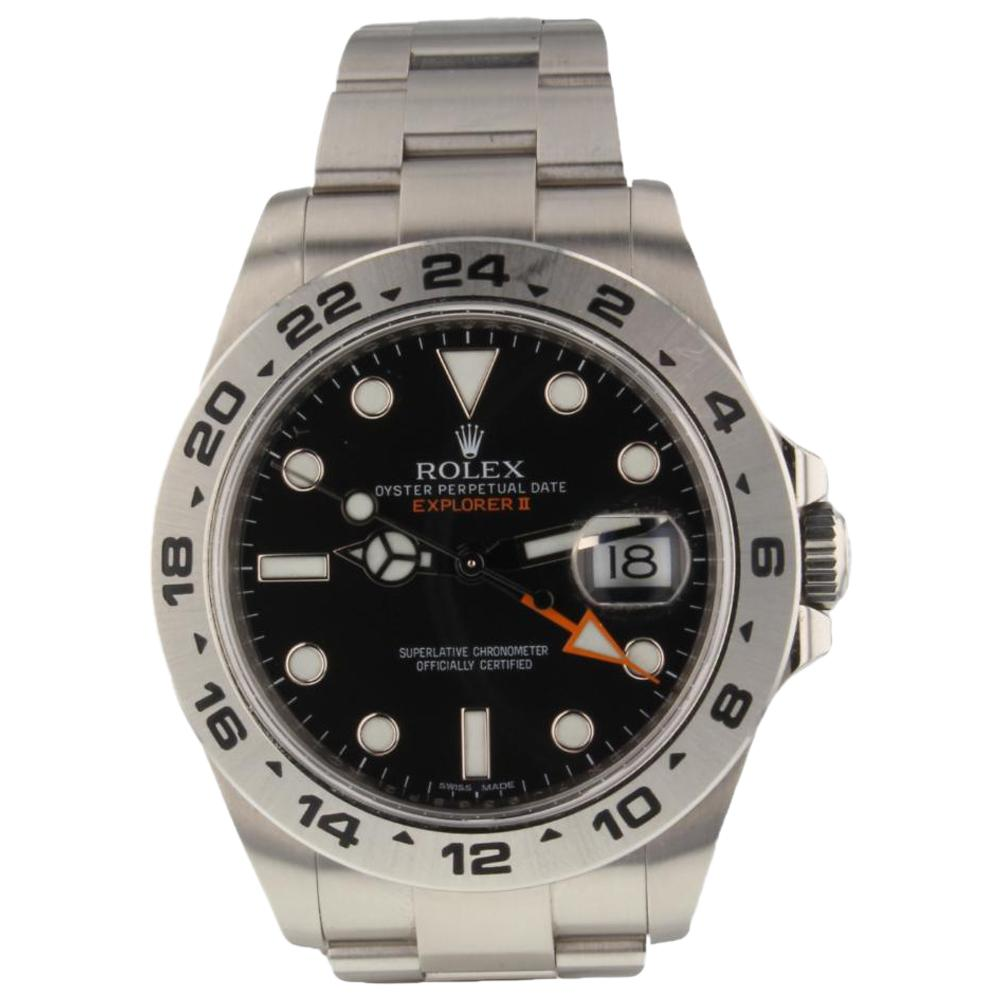 Rolex Explorer Rolex Explorer Ii Steel Black Dial Automatic Men S Watch 216570 Scrambled
