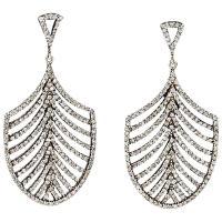 Jennifer Miller Diamond Feather Drop Earrings For Sale at ...