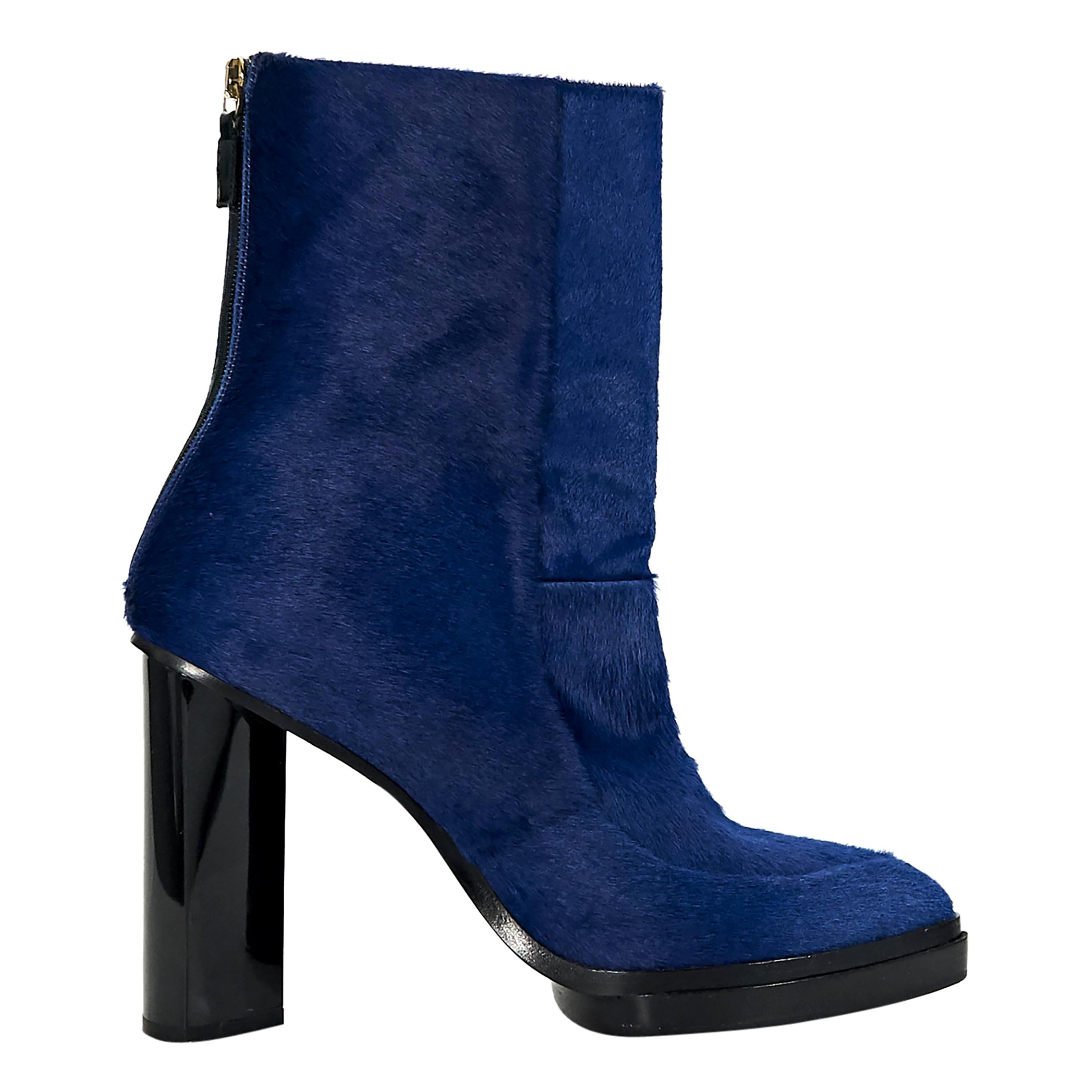 Blue Jason Wu Pony Hair Ankle Boots For Sale At 1stdibs