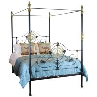 Cast Iron Four Poster Bed - M4P13 at 1stdibs