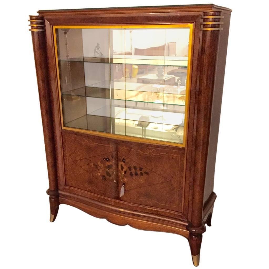 Bar Vitrine French Art Deco Vitrine Or Display Cabinet In The Style Of