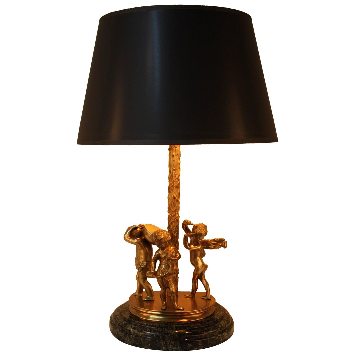 Baby Table Lamps Three Baby Musician Bronze Table Lamp For Sale At 1stdibs
