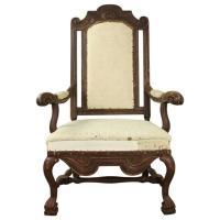 Large Swedish Baroque Armchair, Original 17th Century ...