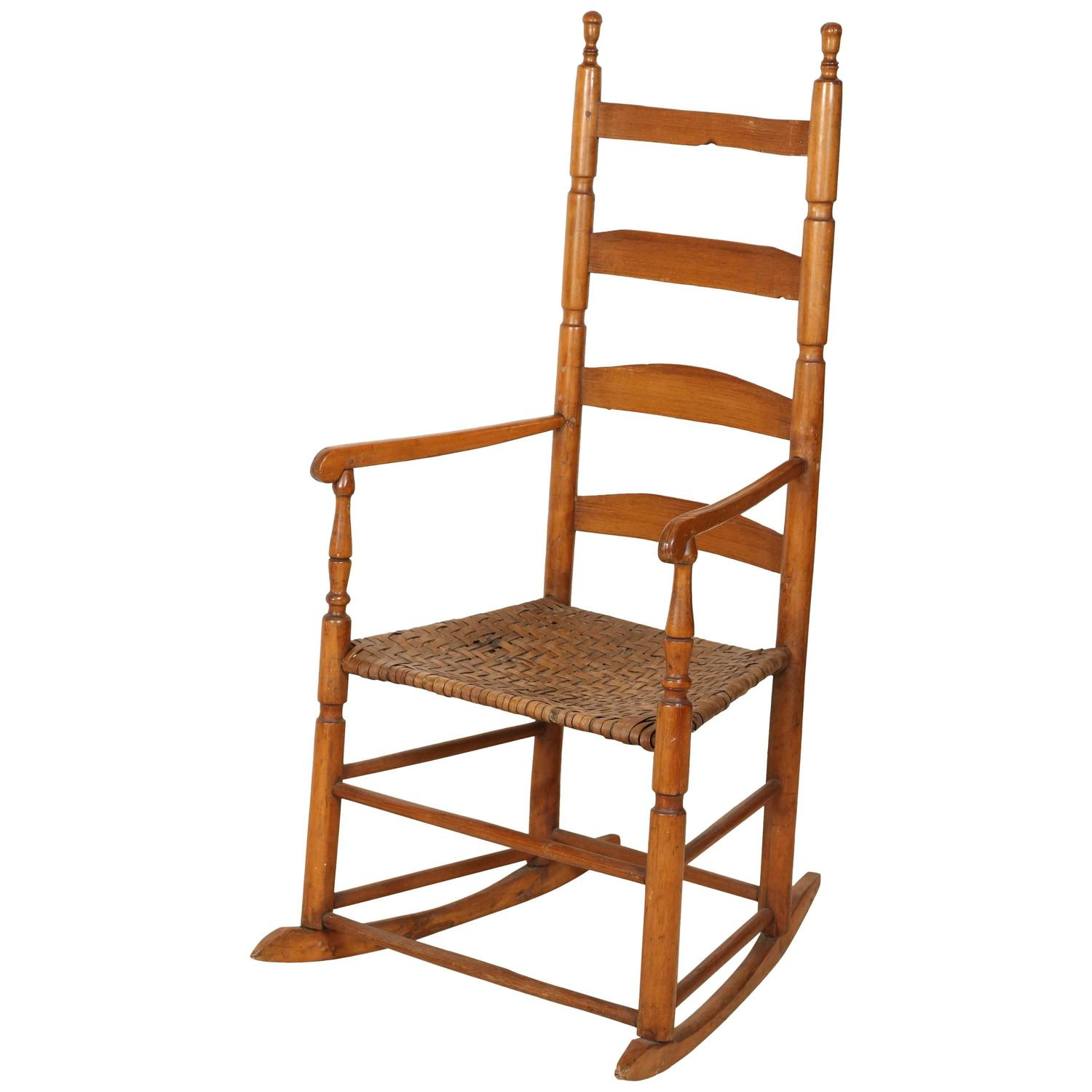 Chair Price Ladder High Back Rocking Chair