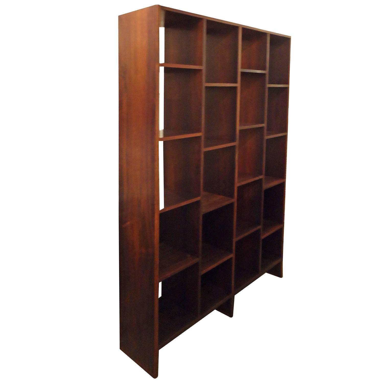Danish Rosewood Room Divider Bookshelf at 1stdibs