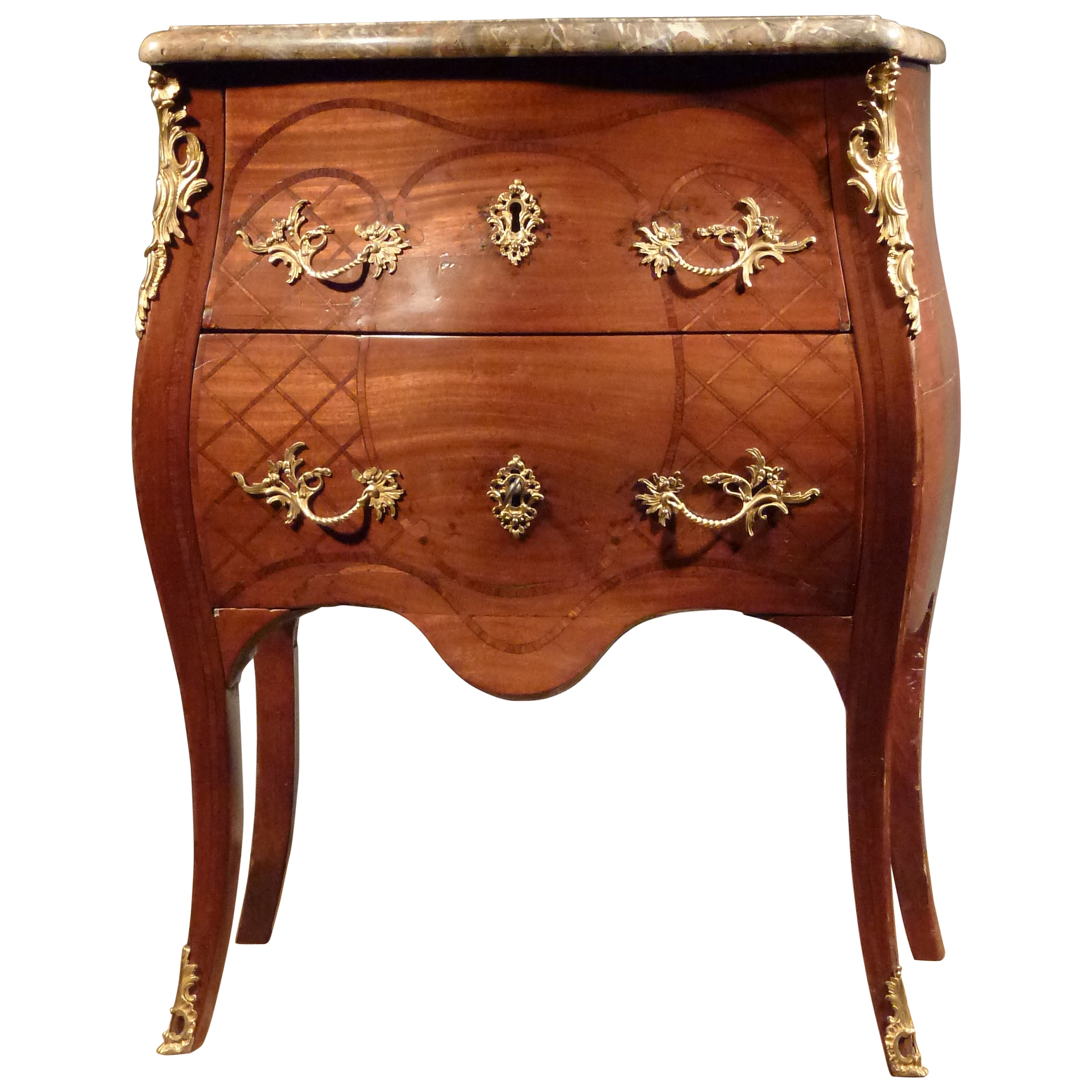 Commode Rose Dutch Louis Xv Commode Bearing The Stamp Of The Guild Of Saint Joseph