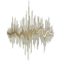 """Sound Waves"" Metal Wall Sculpture at 1stdibs"