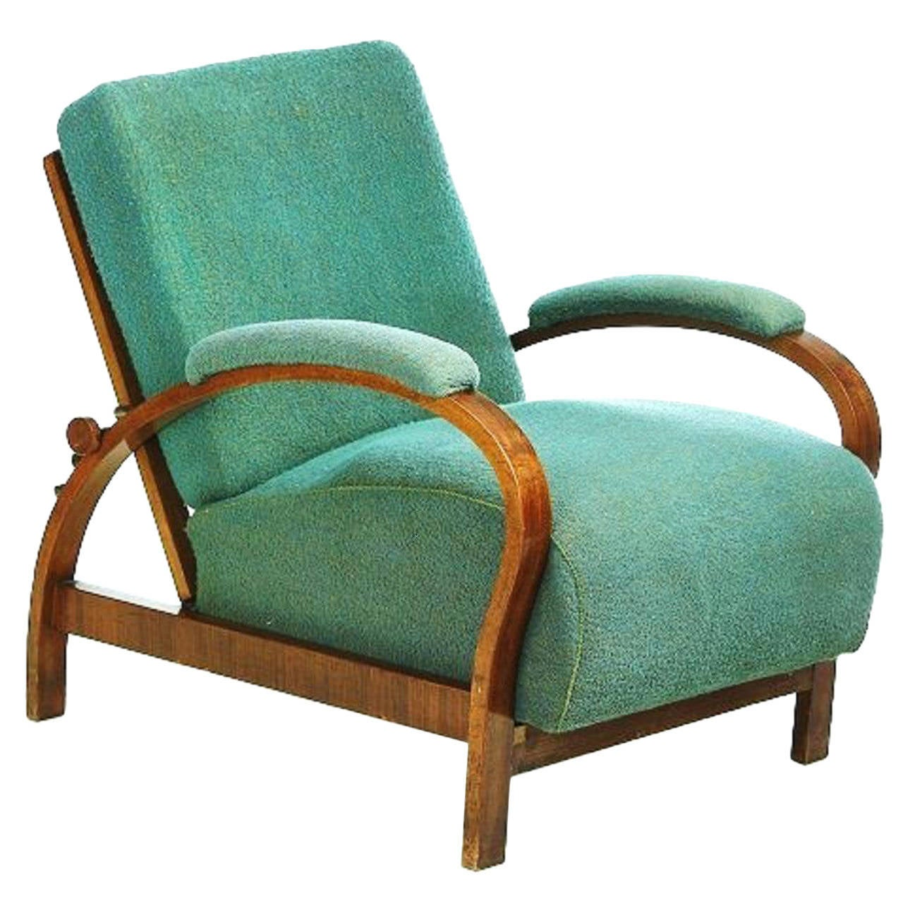 Sessel Art Deco Art Deco Armchair With Adjustable Backrest