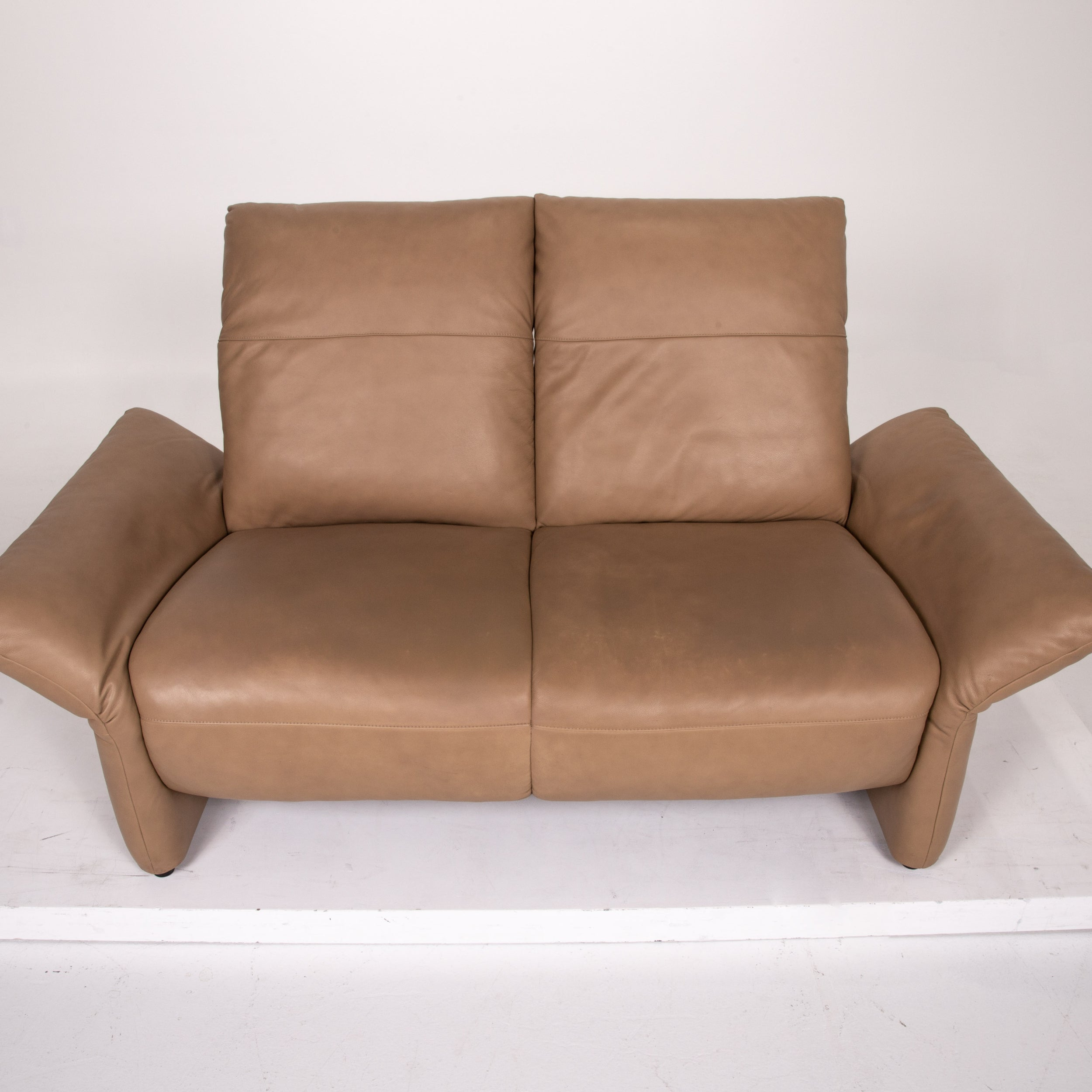 Koinor Elena Leather Sofa Brown Two Seat Function Couch For Sale At 1stdibs