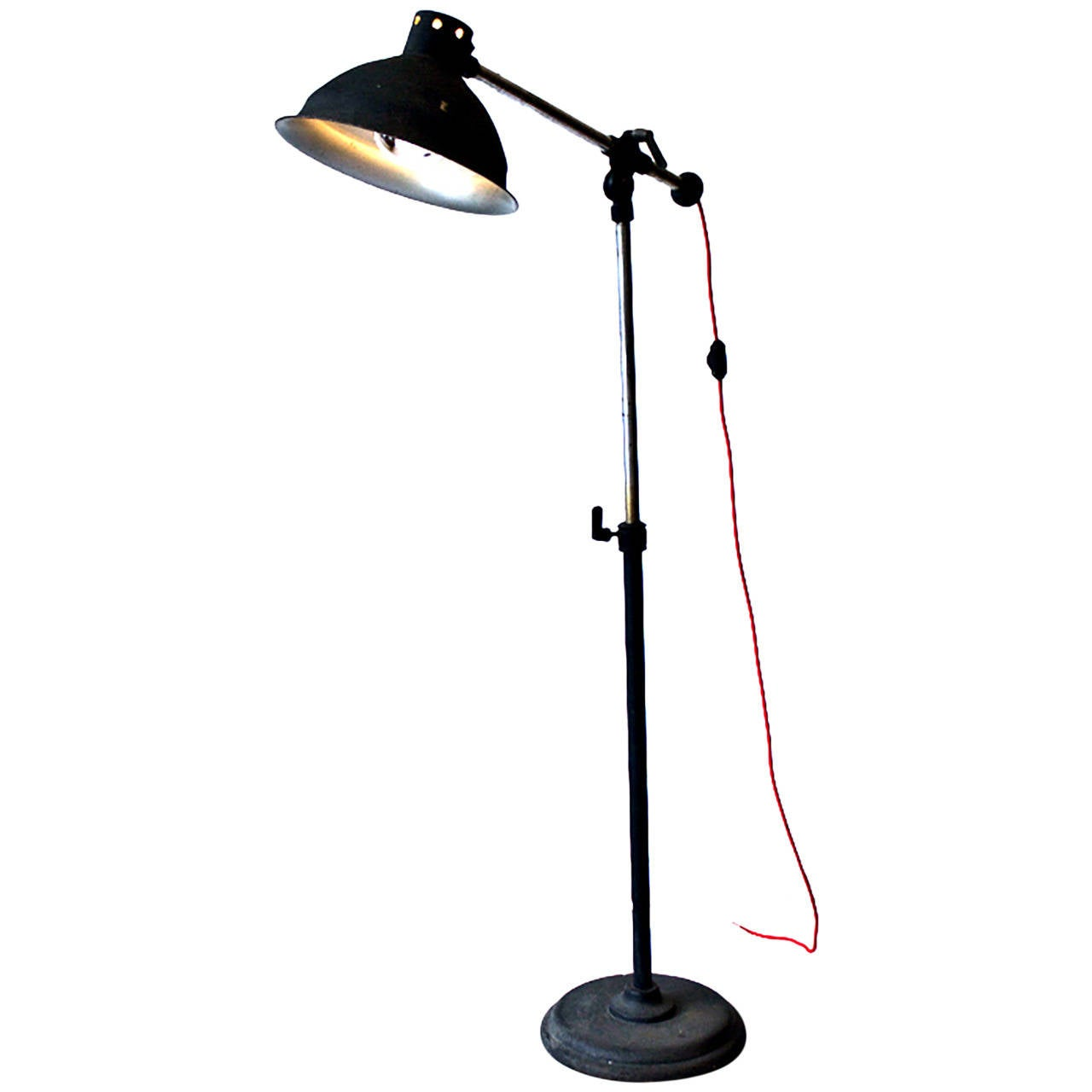 Floor Lamp Metal Industrial Metal Floor Lamp At 1stdibs