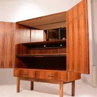 Mid-Century Modern Danish Rosewood Bar Cabinet at 1stdibs