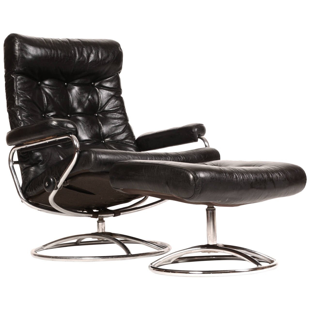 Ekornes Stressless Reclining Stressless Lounge Chair And Ottoman By Ekornes