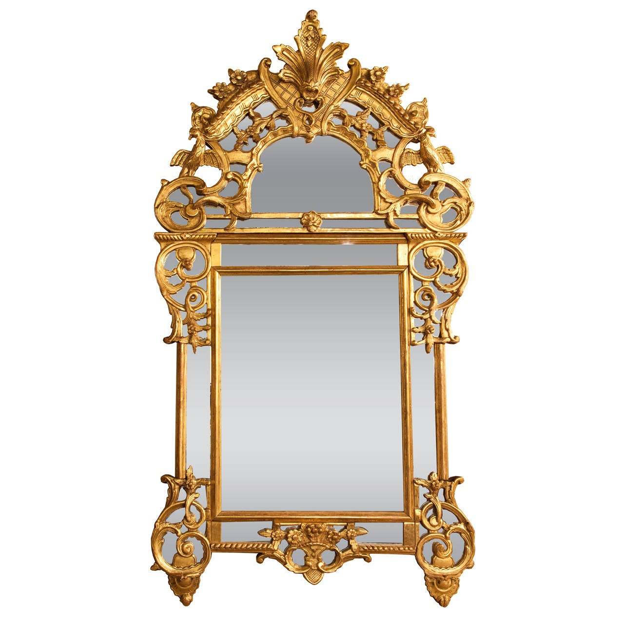 Asian Style Wall Mirrors French 19th C Chinese Chippendale Style Giltwood Mirror