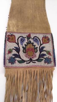 Native American Pipe Tobacco Bag with Floral Bead Work at ...