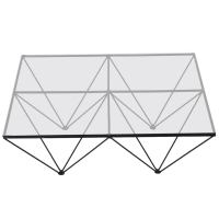 Alanda Style Geometric Glass Wire Framed Coffee Table at ...