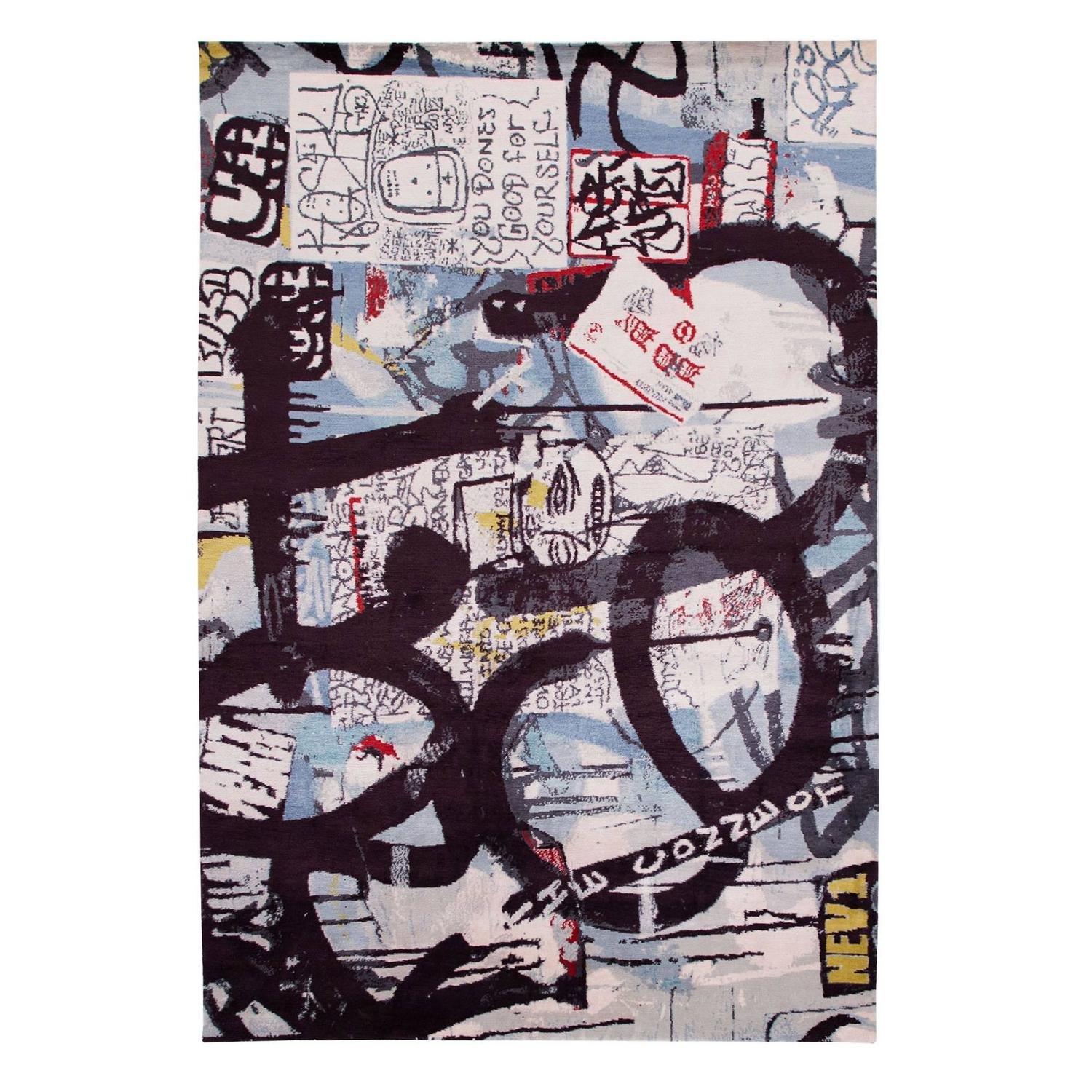 New York Poster Ikea Silk One Of A Kind Mash Up New York City Graffiti Rug
