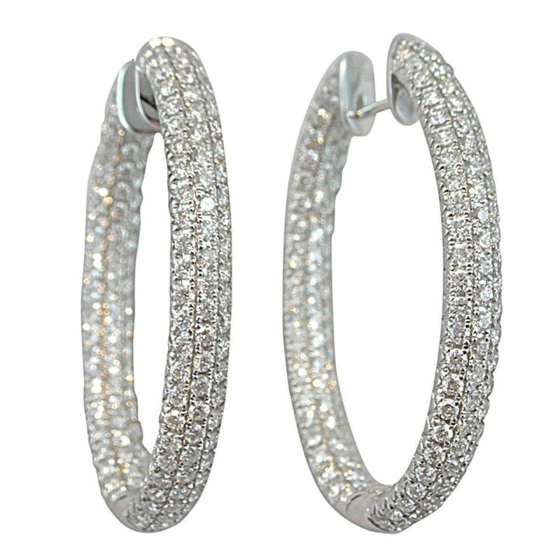 Large Of Diamond Hoop Earrings