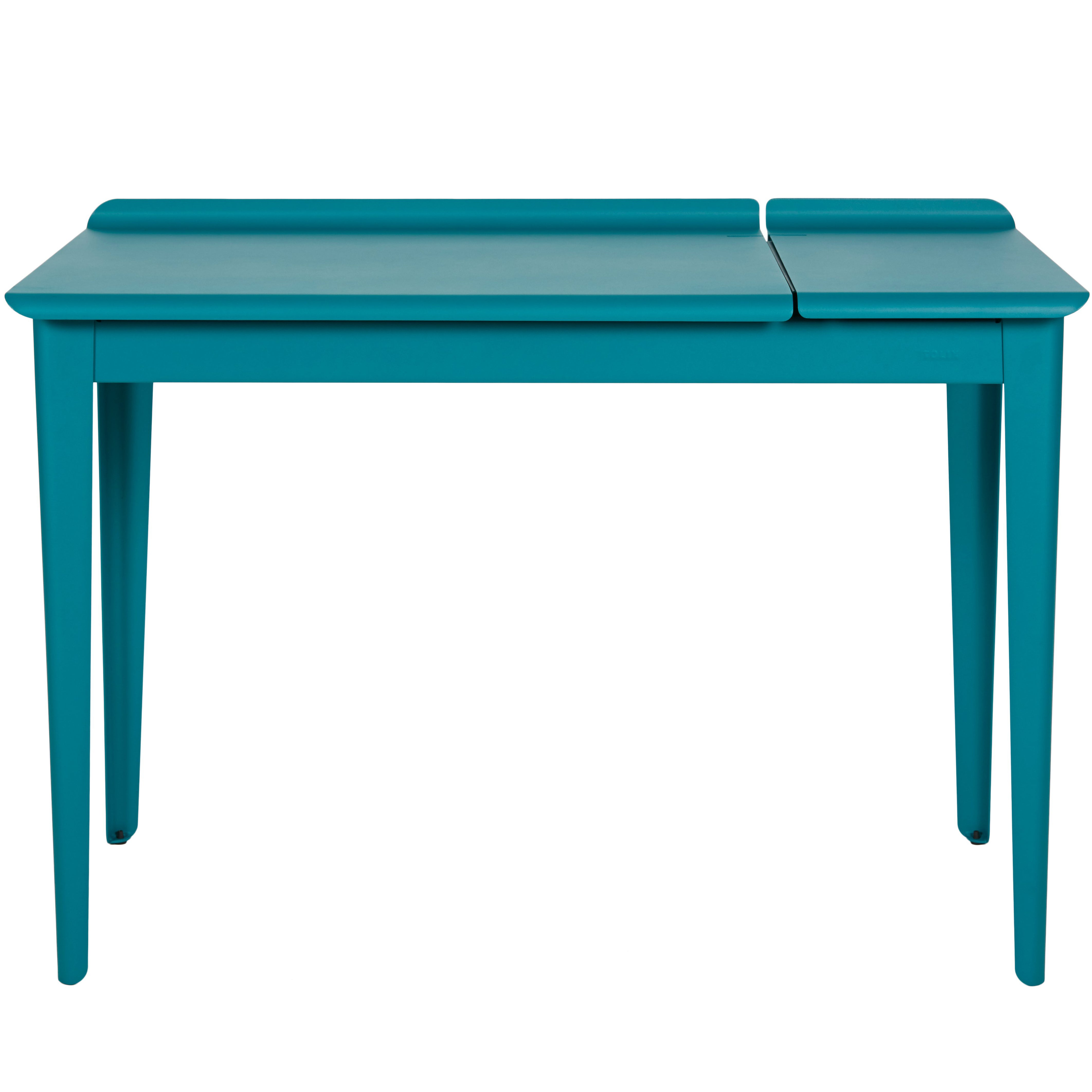 Bureau Tolix Flap Desk In Teal Matte By Tolix