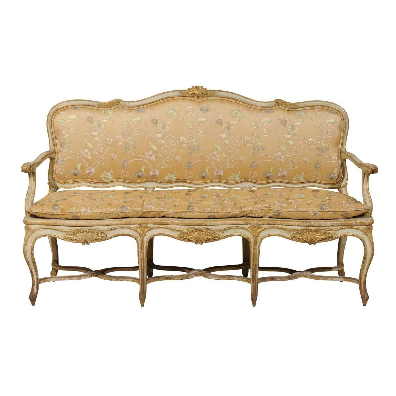 Canape Sofa French 18th Century Sofa Canapé With Original Paint At