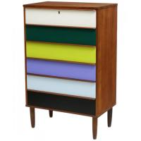 Danish Mid-Century Modern Chest of Drawers at 1stdibs