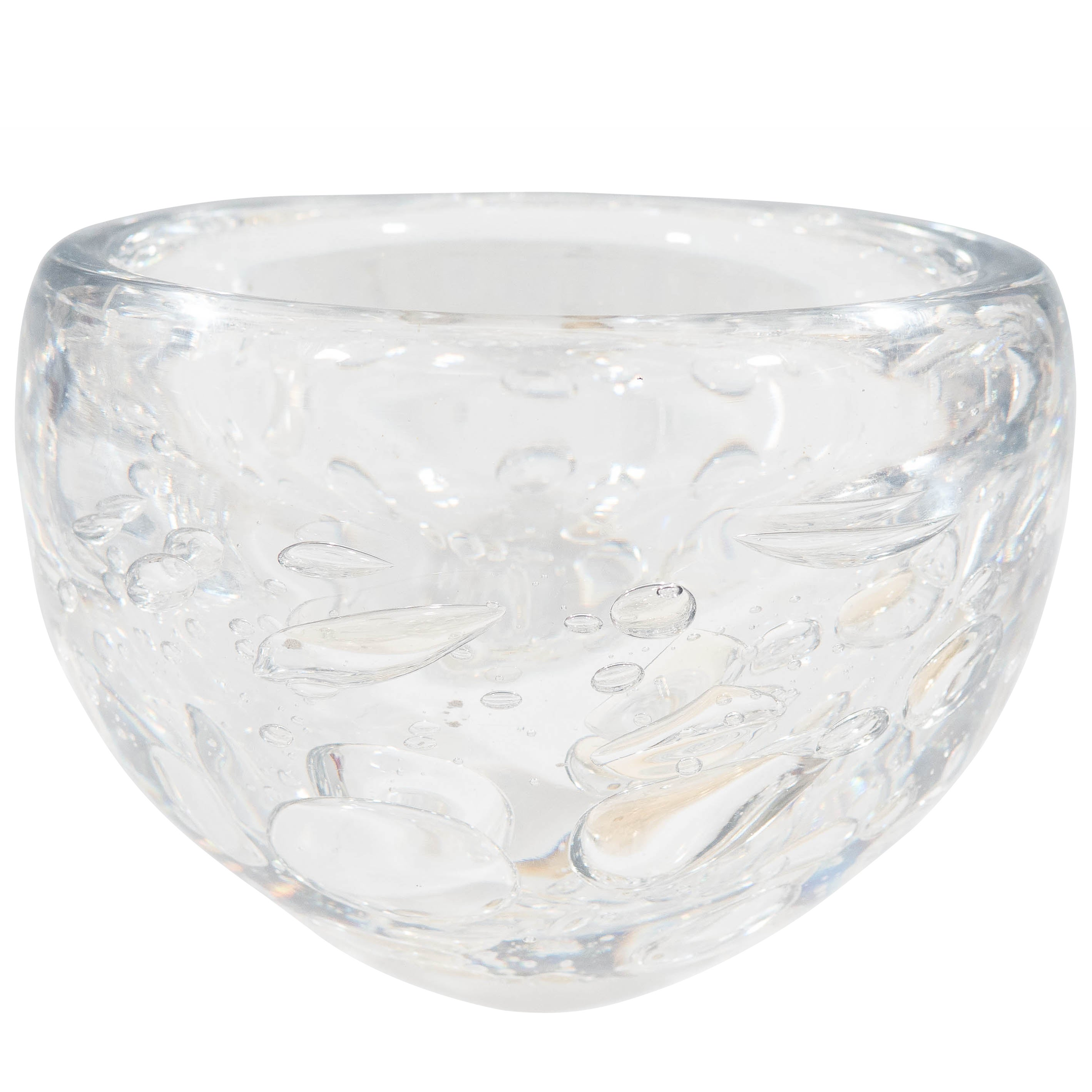 Decorative Glass Bowls Kosta Decorative Glass Bowl With Controlled Bubbles