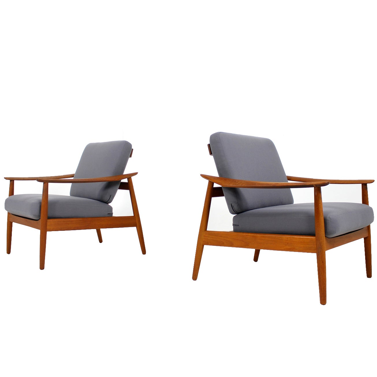 Teak Sessel Danish Beautiful Pair Of 1960s Arne Vodder Teak Easy Chairs Mod 164 Danish Modern
