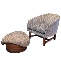 Mid-Century Modern Reading Chair and Ottoman For Sale at ...