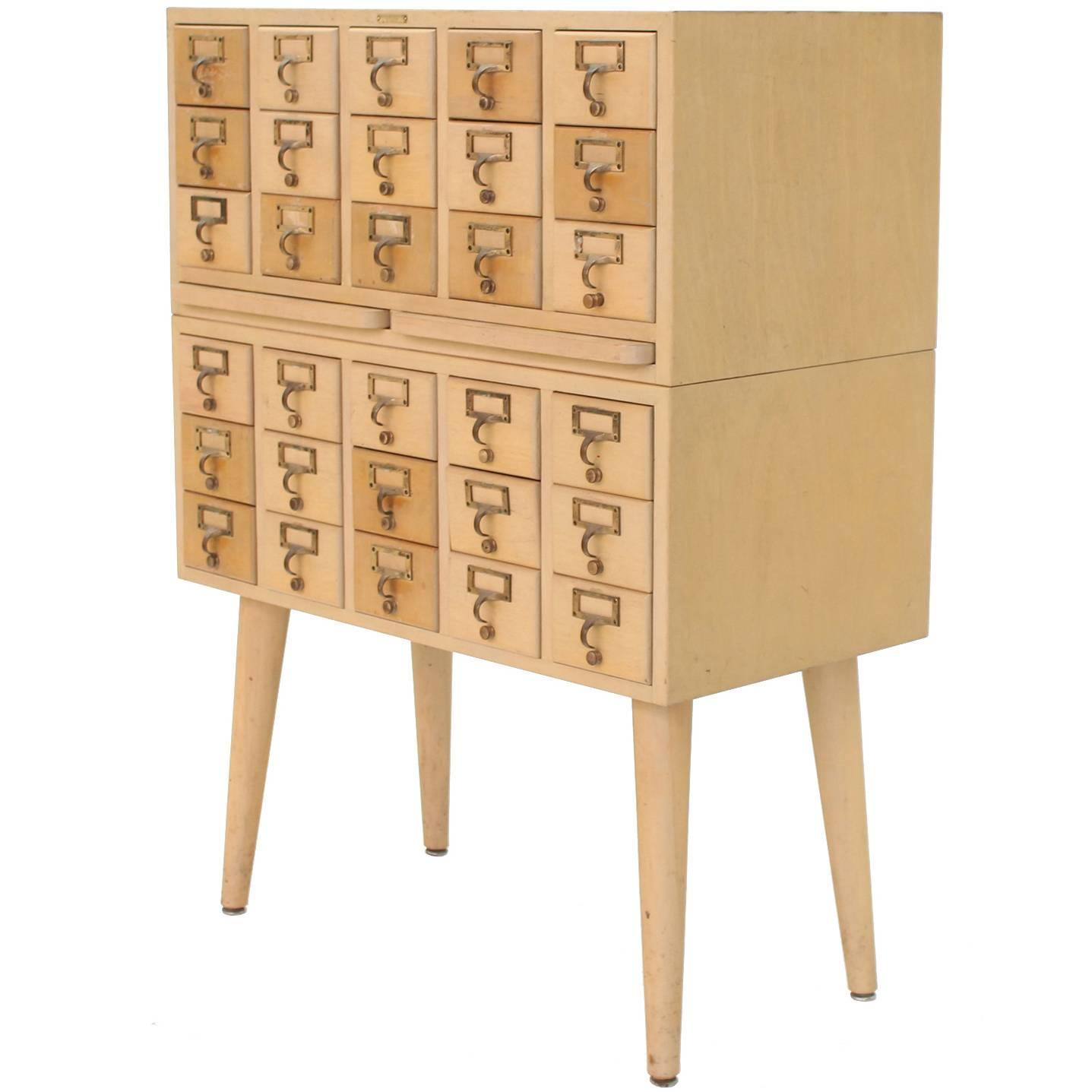 Solid Wood File Cabinet Multi Drawer Vintage All Solid Wood Index Card File Cabinet