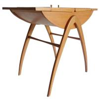 Danish Modern Spindle Legs Storage Box Chest Table ...