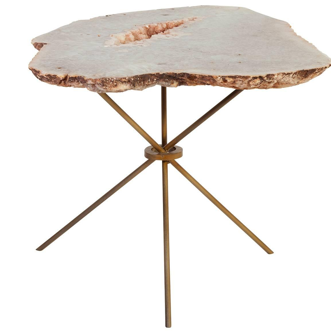 Couchtisch Milano Rose Quartz Agate Side Table For Sale At 1stdibs