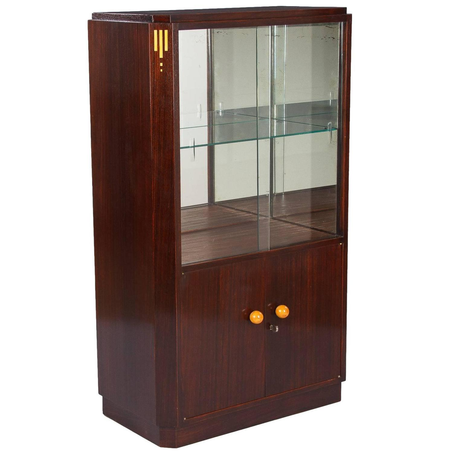 Bar Vitrine 1930s French Art Deco Rosewood Bar Or Vitrine Cabinet For